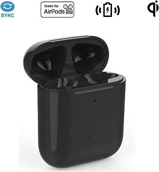 Carga Inalambrica Caso Reemplazo Compatible con AirPods 1 & 2 con botón de emparejamiento Bluetooth (No Incluye Airpods,Compatible con Todas Las Almohadillas de Cargador Inalámbrico: Amazon.es: Electrónica