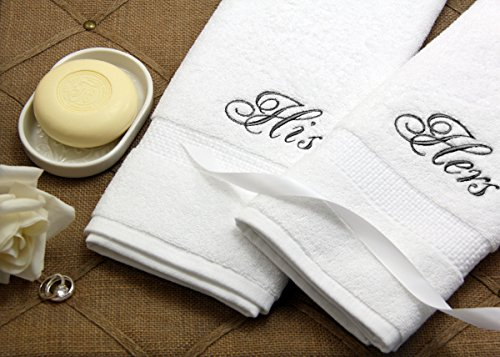 Luxor Linens - Hand Towel Set - 100% Egyptian Cotton Bathroom Hand Towel Sets - Custom Embroidery Available - The Softest, Most Plush Luxury Towels - Available in Sets of 2