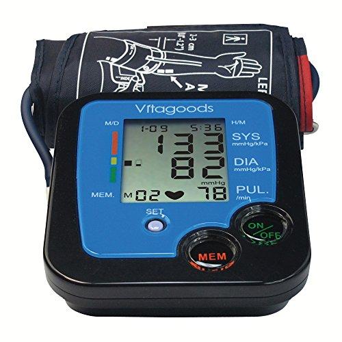 Vitagoods Blood Pressure Monitor, Black/Blue