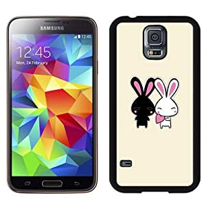 New Personalized Custom Designed For Samsung Galaxy S5 I9600 G900a G900v G900p G900t G900w Phone Case For 2 Cute Cartoon Rabbits Phone Case Cover