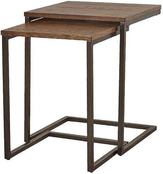 Table XIAOYAN Mesa de anidación Sala de Estar Sofá Mesa Auxiliar ...