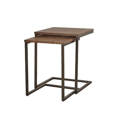 Table XIAOYAN Mesa de anidación Sala de Estar Sofá Mesa ...