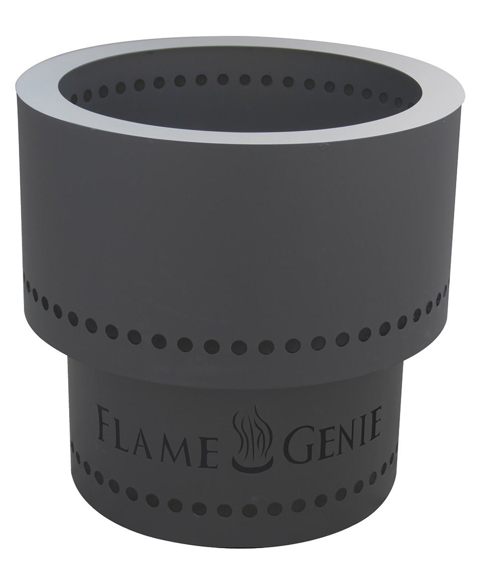 HY-C Flame Genie FG-16 Wood Pellet Fire Pit, 13.5 x 13.5 x 12.5 Inches, Black