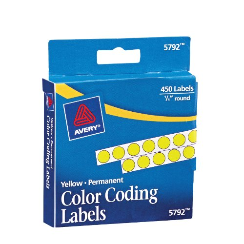 avery-permanent-color-coding-labels-025-inch-round-yellow-pack-of-450-5792