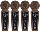 Beer taps handle Set of 4, Kegerator Beer Tap Handles with chalkboard, Unique Wooden Beer Taps 8.3'' Length, Premium Craft Beer, Made of natural Walnut Wood …