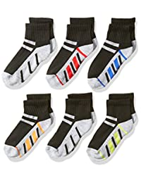Fruit of the Loom Big Boy's 6 Pack Stripe Ankle Socks