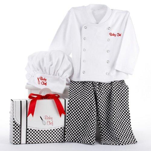 Baby Aspen Baby Culinary Chef Layette Set Gift Box, Multi, 0-6M