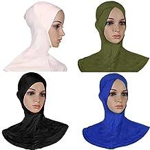 GladThink 4 X Womens Muslim Full Cover Hijab Caps Islamic Scarfs Set No.14