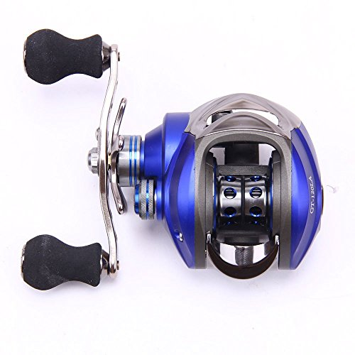 From usa entsport titanium alloy casting reel left for Left handed fishing reels