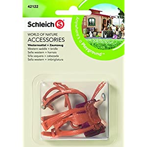 Schleich North America Western Saddle + Bridle Toy Figure