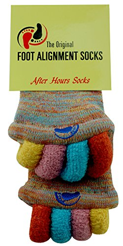 Original Foot Alignment Socks Multi Color (Womens 7/9/Mens 5-9) Happy Feet (Medium)