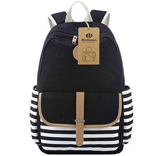 BLUBOON Laptop Bookbags School Travel Backpack Schoolbag for Teens Girls High School College (Black-8893) by BLUBOON