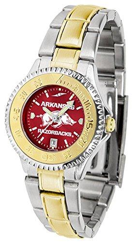 Arkansas Razorbacks Ladies Sport Watch - Arkansas Razorbacks Competitor Two-Tone AnoChrome Women's Watch
