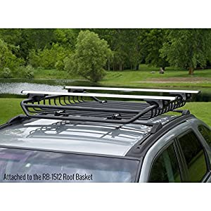 "Universal Aluminum Locking Roof Cargo Bars - Fits Roof Side Rails Up To 50"" Apart"