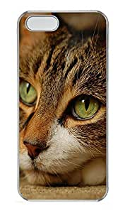 iPhone 5 5S Case Green Cats Eye PC Custom iPhone 5 5S Case Cover Transparent