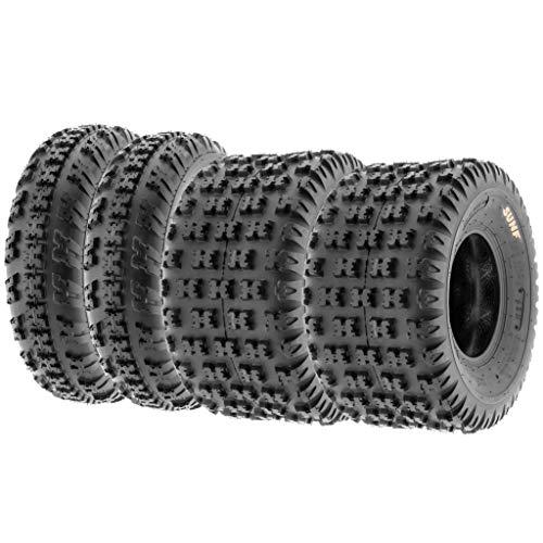 Set of 4 SunF A043 XC Racing ATV UTV Radial Sport Tires 26x9R12 Front & 26x11R12 Rear, 6PR, All-Terrain Off-Road & Track