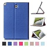 Galaxy Tab A 8.0 Case,Samsung T350 Leather Case,Samsung Tab A 8.0 Tablet Case,Premium Folio Case for Samsung Galaxy Tab A 8.0 with Stand-Dark blue