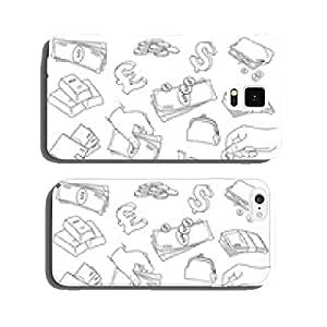 Set of doodle money symbol vector illustration cell phone cover case iPhone6 Plus
