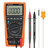 Proster Digital Multimeter 3999 LCD Auto Ranging Multi Meter with Capacitance Resistance DC AC Voltage Current Transistor Diode Continuity