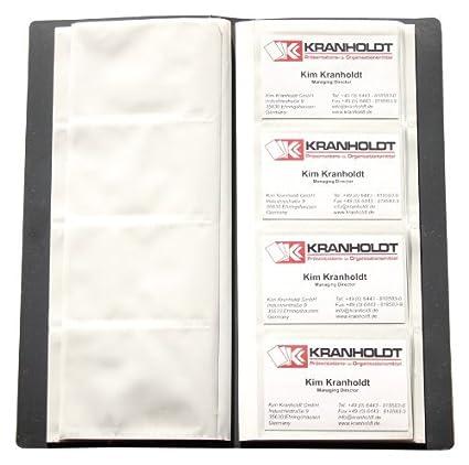 Carpeta con fundas para 240 tarjetas de visita, color negro ...