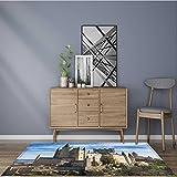 Home Area Rug the alcazar of segovia spain for living room 24''x40''