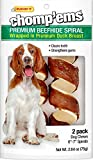 Westminster Pet Products Ruffin' It Chomp'Ems Beefhide Spirals With Duck Pet Snack (1 Pack), 6