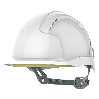 JSP Evolite Casco de seguridad con trinquete One Touch Slip 3d y pico de sistema de ajuste, Ventilado, corto, EN397, color blanco: Amazon.es: Industria, empresas y ciencia