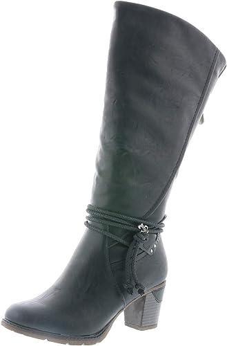 Rieker 96059 00 Schuhe Damen Stiefel Ankle Boot Varioschaft Warmfutter