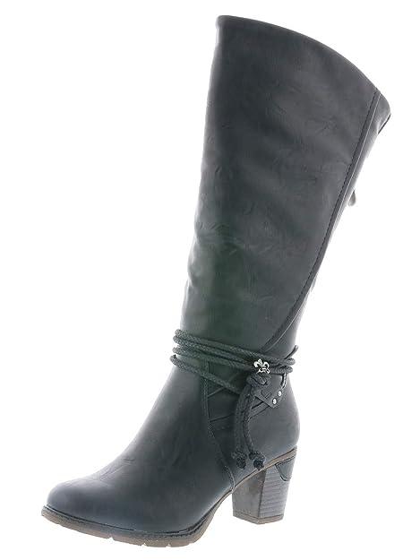 cheap for discount f6d77 84782 Rieker 96059-00 Schuhe Damen Stiefel Ankle Boot Varioschaft Warmfutter