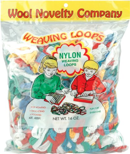 Wool Novelty Nylon Weaving Loops, 16-Ounce, Assorted Colors ()