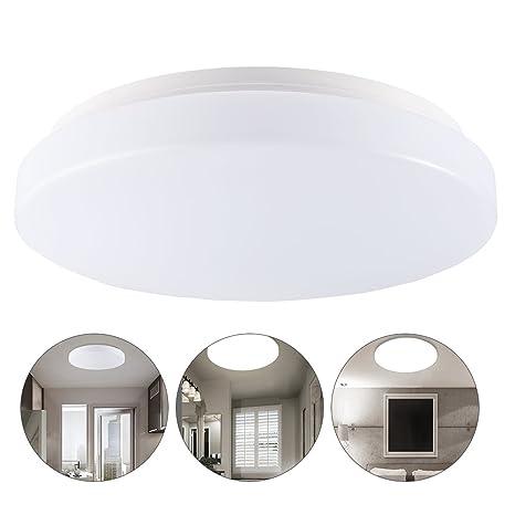 13W LED Moderno Lámpara de techo, Salón Cocina Dormitorio Baño Vestíbulo De La Lámpara, Blanco Frío, IP44 impermeable, 960 Lumen, Ahorro De ...
