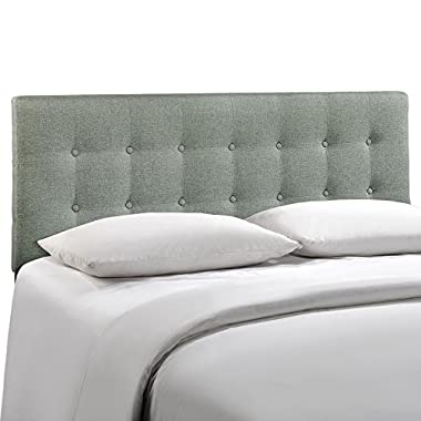 LexMod Emily Fabric Headboard, Full, Gray