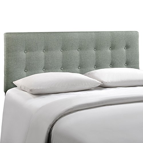 Buy Modway Emily King Upholstered Linen Headboard in Gray