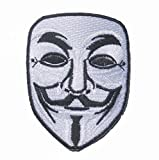 V For Vendetta MASK mask sew iron on Patch Badge Embroidery 6.5x8 cm 2.5x3.25'