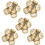 5 Pcs 4-Hole Brass Misting Nozzles High Pressure Atomizing Misting Sprayer Water Hose Nozzle for Greenhouse,Landscaping,Dust Control,Outdoor Cooling,0.06'' Orifice (1.5 mm),DN15(1/2'') Fitting Adapter