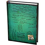 Tinksky Tapa dura vendimia diario estilo Retro portátil revista Bloc de notas - tamaño S (verde)