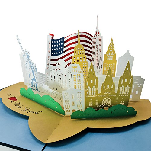 I Love New York City - Wow 3D Pop Up Greeting Card for All Occasions (Original - Copyrighted)