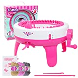 COMVIP Adult Children DIY 40 Needles Knitting Machine Weaving Loom Kit Rose