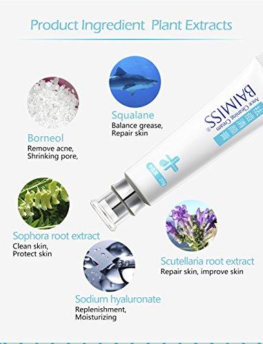 aning Cream Skin Care Remove Repair Comedone Pimple Acne Quickly Face Acne Cream Remover Anti Acne Treatment ()