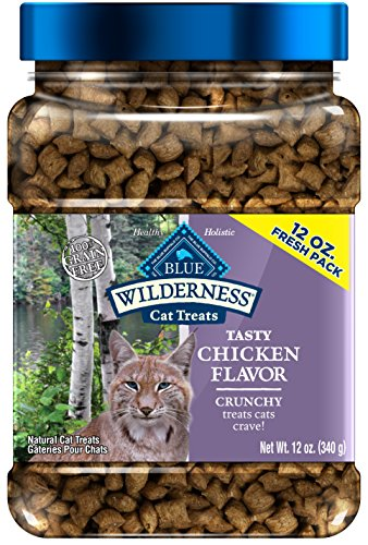 Blue Buffalo Wilderness Crunchy Cat Treats Grain Free Chicken 12Oz
