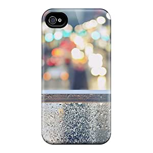 Hot Tpu Cover Case For Iphone/ 4/4s Case Cover Skin - Tokyo Street Lights Bokeh
