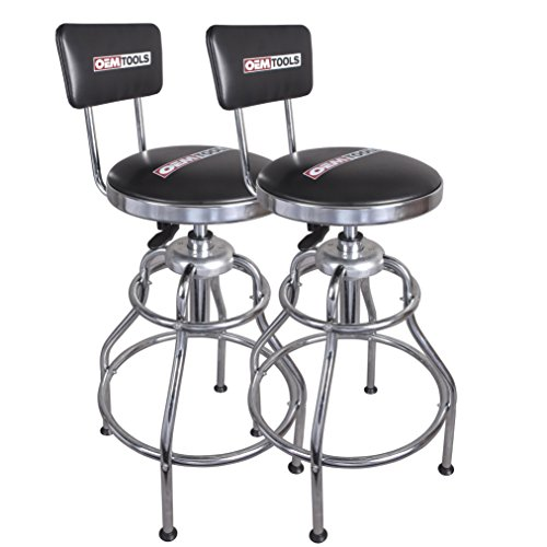 OEMTOOLS 24911TWO Adjustable Hydraulic Stool, 2 Pack by OEMTOOLS