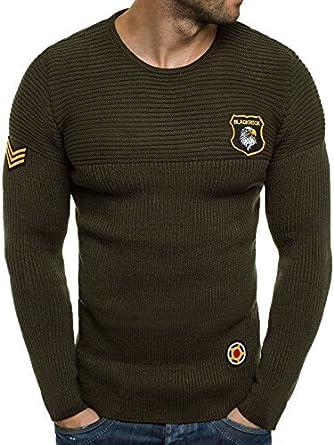 l'atteggiamento migliore a9a1b 49a0d OZONEE Maglione Cardigan Uomo maglione Sportivi Maglia BLACK ...