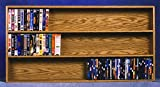 Solid Oak Wall Mount Media Storage (Honey Oak)