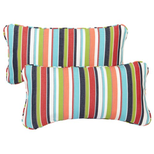 Mozaic Company Sunbrella Indoor/ Outdoor 12 by 24-inch Corded Pillow, Carousel Confetti, Set of ()