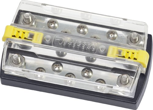 Blue Sea Systems DualBus Plus 150A BusBar - 1/4 (Sea Blue Studs)