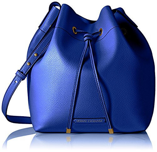 A|X Armani Exchange Pebble Pu Bucket Bag, Royal - Bag Women Armani