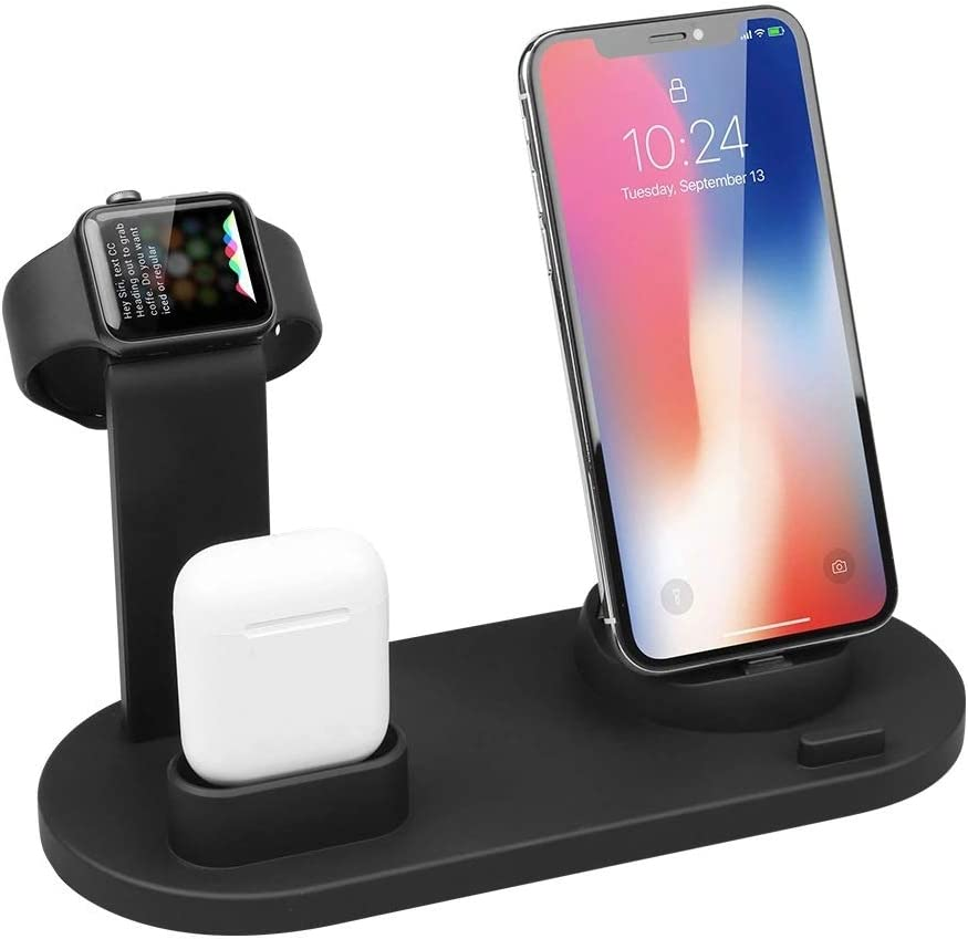 ATETION 3 in 1 Charging Stand Compatible with All Watch and All Phone,Wireless Charger, Charging Stand Compatible with Watch Series6/ 5/4/3/2/1