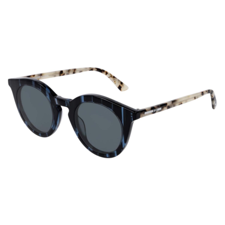 004 BLUE//HAVANA Sunglasses Alexander McQueen MQ 0167 S
