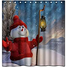 Abbott case_Christmas (9)_100% Polyester Fabric Shower Curtain Standard Size Custom The size:60x72inch/150x180cm